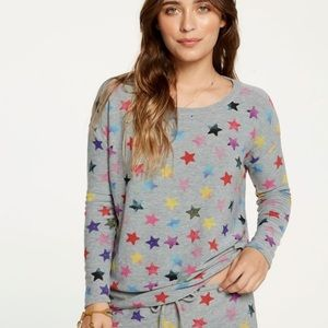 NWT Chaser Rainbow Stars Pullover